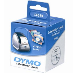 Etiqueta  Dymo CD ø57 mm. 160u. 562142