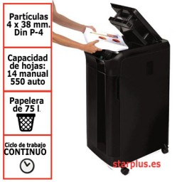 Destructora papel Fellowes Automax 550C automática