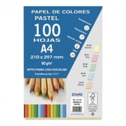 100 hojas papel amarillo 80 g/m² Din A-4 Dohe 30190