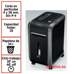 Destructora papel Fellowes 99Ci uso profesional 4691001